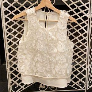 Calvin Klein White Embroidered Blouse